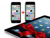 Два броя iPhone 5C + Подарък iPad 4